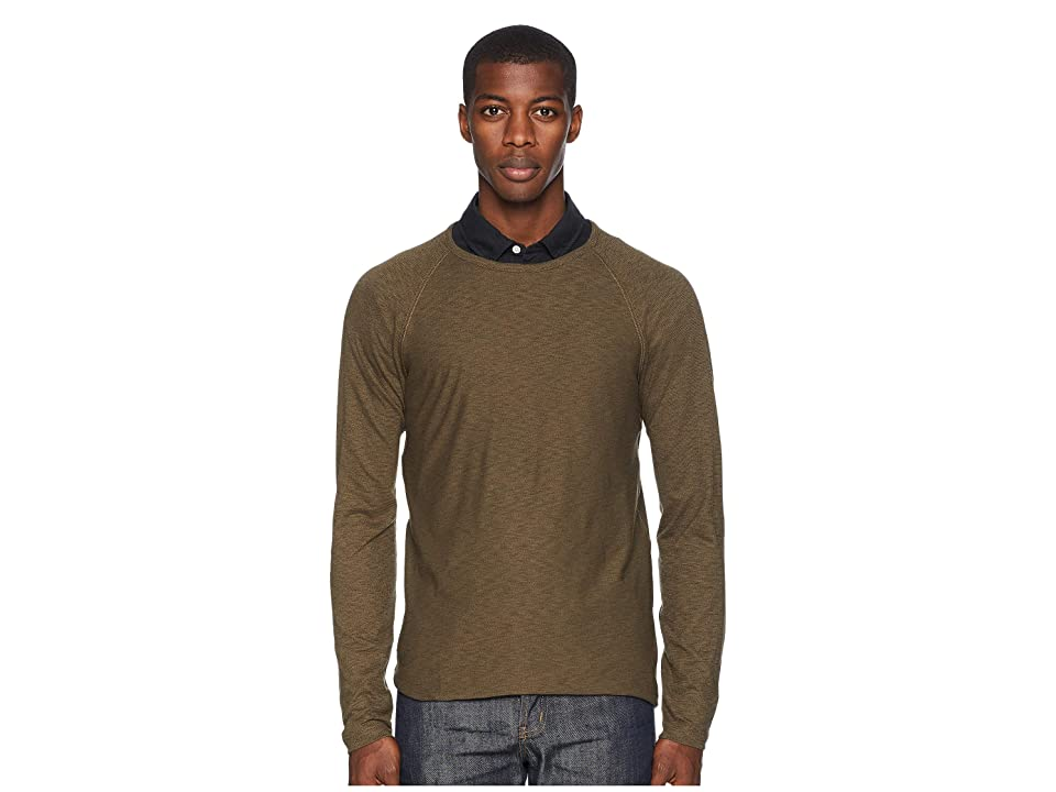 Image of Billy Reid Indian Crew (Olive) Men's Clothing