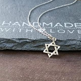Sterling Silver Star of David Pendant - Faith Pendant Necklace, 18