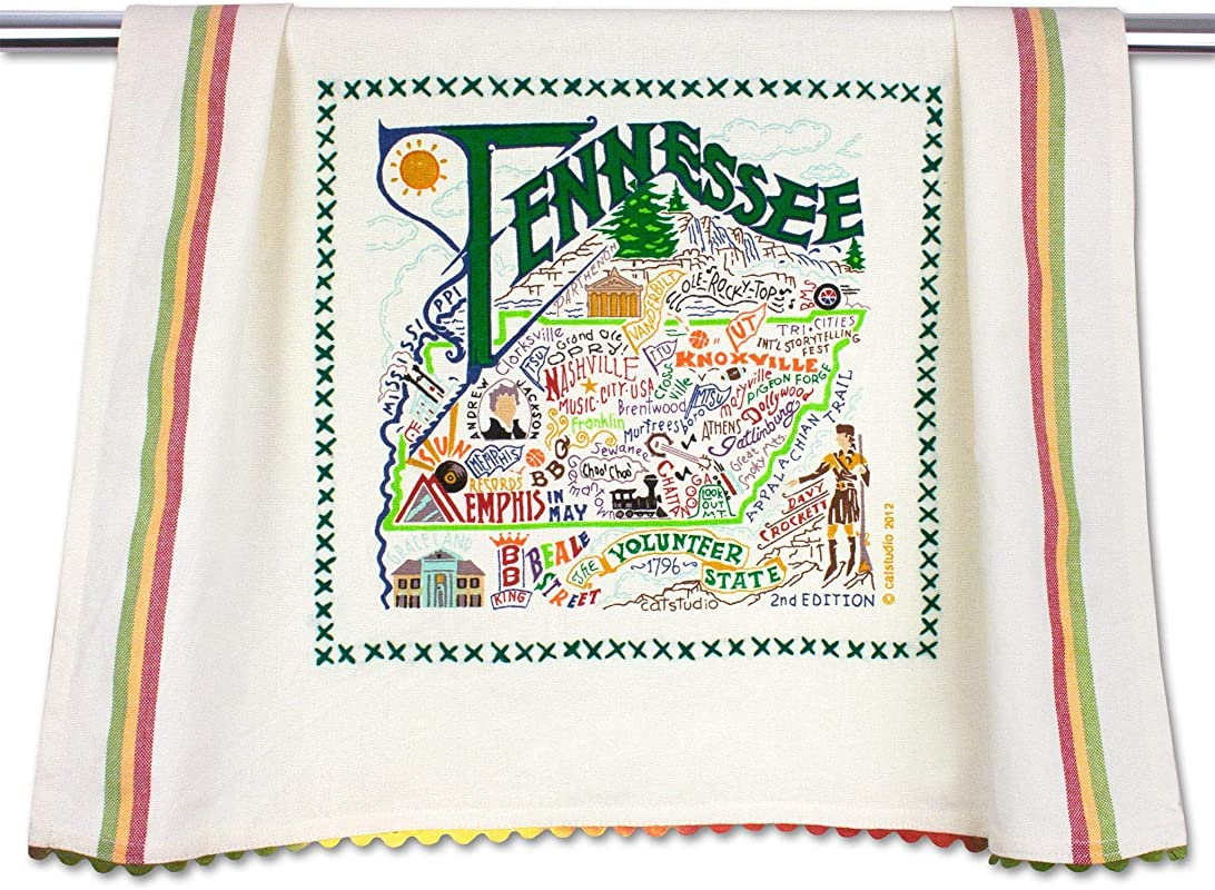 Catstudio Tennessee Dish Cloth Tea Towel Or Decorative Hand Towel Geography Collection 20 X 29