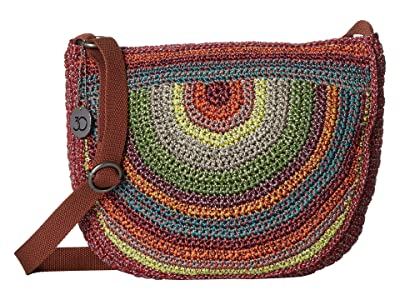 The Sak Ryder Crochet Crescent Crossbody (Gypsy Stripe) Handbags