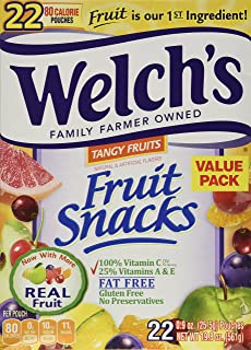Welch's Tangy Fruit Snack Pouches 0.9oz - 22 Pouches