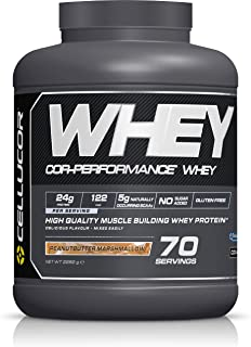 CELLUCOR COR-Performance Protein Powder Peanut Butter Marshmallow | 100% Whey Isolate | Gluten Free + Low Fat Post Workout Muscle Growth Drink for Men & Women | 70 Servings
