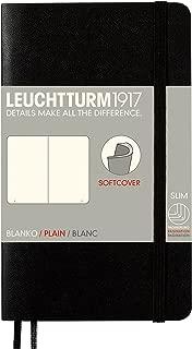 Leuchtturm1917 Notebook Pocket A6 Softcover Plain Blank - Black