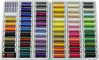 Simthread 63 Spools 330 Yards Polyester Embroidery Machine Thread for Brother Babylock Janome Singer Pfaff Husqvarna Bernina Machines
