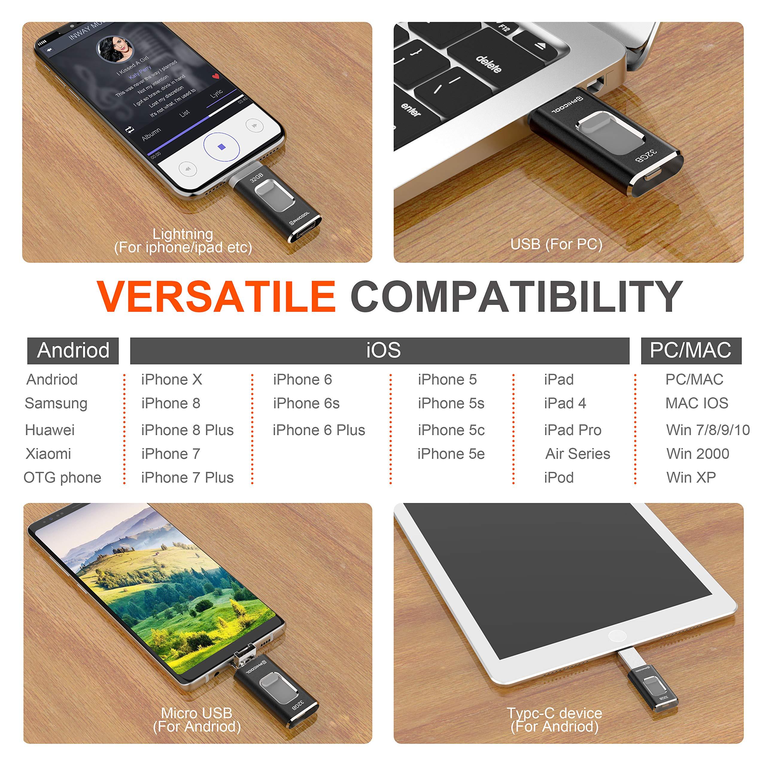 Unidad Memoria Flash USB 3.0 32 GB Memoria Lápiz Drive OTG PHICOOL ...