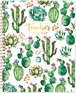 Teacher Planner 2020-2021 - Academic Planner from July 2020 - June 2021, 8'' x 10'', Lesson Plan Book, Cactus Weekly & Mon...