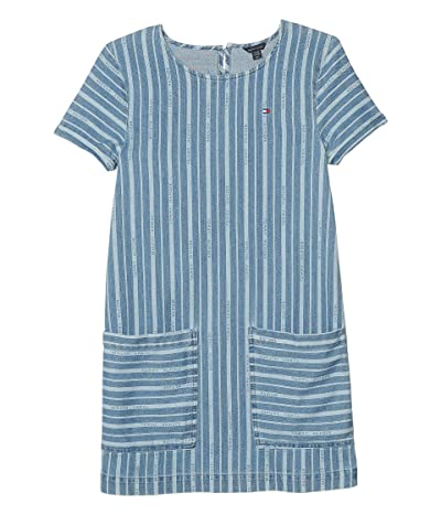 Tommy Hilfiger Kids Stripe Denim Dress (Big Kids) (Nolita Wash) Girl