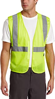 Key Industries Men's Mesh Vest high Visibility Reflective Stripe Hook and Loop Closure