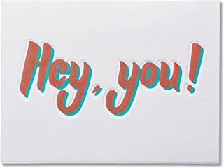 Hey You Thinking of You Card with Flocking