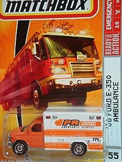 Matchbox Emergency Response Orange 08 Ford E-350 Ambulance 1:64 Scale