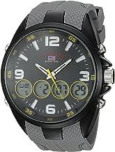 U.S. Polo Assn. Men's Analog-Quartz Watch with Rubber Strap, Grey, 27 (Model: US9597)