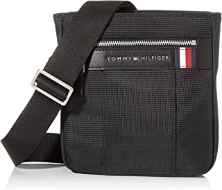 Tommy Hilfiger Men's Elevated Nylon Mini Crossover Bag, Black - AM0AM05811