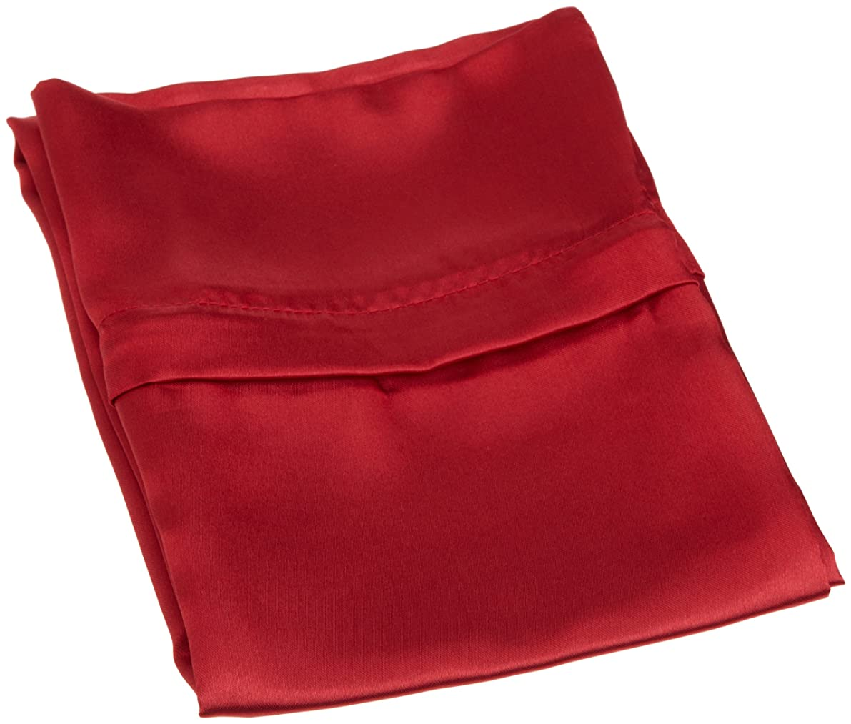 Divatex Home Fashions Royal Opulance Zippered Satin Pillow Case, Red