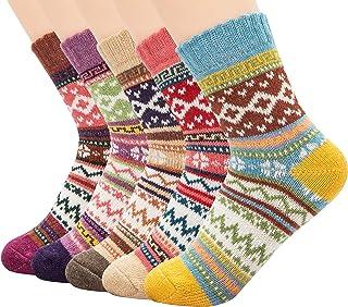 جوارب صوف للنساء من زاندو، جوارب شتوية رياضية، جوارب طويلة دافئة للتنزه من صوف ميرينو، جوارب ناعمة سميكة متوسطة الساق