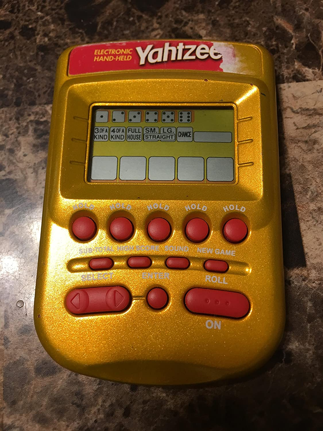 Yahtzee Now free shipping Cash special price Electronic Gold Hand-held