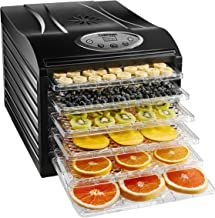 Chefman Food Dehydrator Machine Professional Electric Multi-Tier Food Preserver, Meat or Beef Jerky Maker, Fruit & Vegetable Dryer with 6 Slide Out Trays & Transparent Door