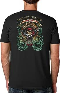 Pirate Octopus Cotton Crew Short Sleeve Shirt