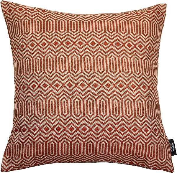 McAlister Textiles Colorado Pillow Case Terracotta Orange Aztec Geometric Tribal Decorative Throw Scatter Sofa Cushion Sham Size 18 X 18 Inches
