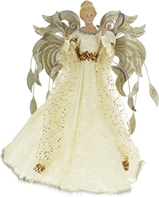 4028d9db471c1 Amazon.com  Katherine s Collection White Angel Tree Topper Thread of ...