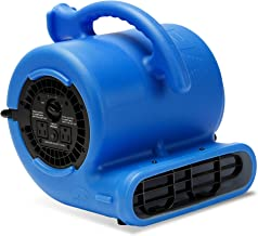 B-Air VP-25 1/4 HP 900 CFM Air Mover for Water Damage Restoration Equipment Carpet Dryer Floor Blower Fan Home and Plumbing Use, Blue