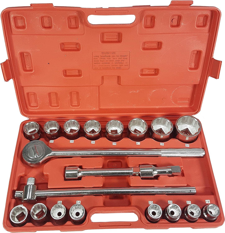 Steckschlüssel Satz Ratschenkasten Nüsse Nusskasten Werkzeug, 21tlg 3 3 3 4 12-K(KL-M58253) B079J65F6Z | Auktion  c590b6