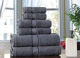 Excel Hometex 100% Luxurious Cotton 600 GSM 6PC Bath Towel Set (Grey)