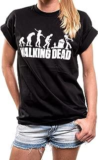 Walking Dead Plus Size Top - Zombie Evolution - Oversized T-Shirt Boyfriend Style