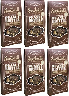 Sweetsmith Candy Co. Sugar-Free Peanut Brittle – Keto-Friendly, Diabetic-Friendly, Celiac-Safe – Low Glycemic Index, Low Net Carb, Low Carb, Gluten-Free (Sugar Free Peanut Brittle, 6 Pack)