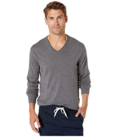 J.Crew Xinao Merino V-Neck (Heather Coal) Men