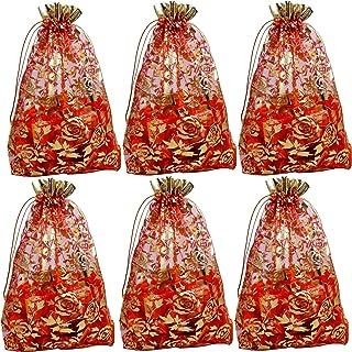Evisha Women's Net Jari 23 x 16 cm Potli Pouch Bag (Multicolour) -20 Pieces