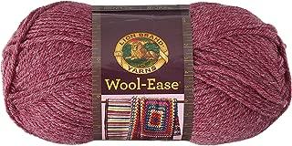 Lion Brand Yarn 620-139 Wool-Ease Yarn, One Size, Dark Rose Heather