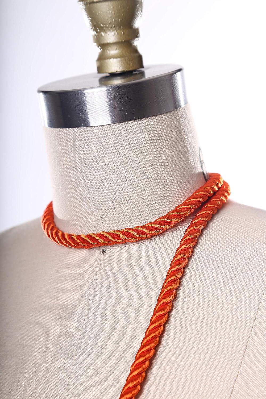 Orange Satin Some reservation Rope Oklahoma City Mall Trim. B Silky Tape