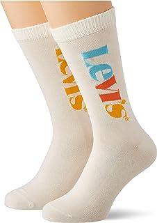 Levi's Vertical Logo Regular Cut Socks (2 Pack) Calzini Unisex-Adulto