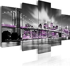 murando - Cuadro en Lienzo 200x100 cm New York Impresión de 5 Piezas Material Tejido no Tejido Impresión Artística Imagen Gráfica Decoracion de Pared Ciudad 030102-25