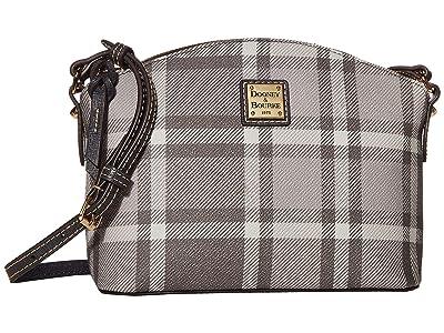 Dooney & Bourke Graham Plaid Suki Crossbody (Grey/Dark Grey Trim) Handbags