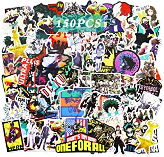 150 pcs My Hero Academia Sticker Anime Stickers Collectibles Car Snowboard Bicycle Luggage Pad MacBook Water Bottle Skateb...