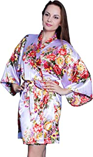 Taniri Satin Floral Kimono Robes for Bride and Bridesmaids Wedding Party Bridesmaid Gifts 14 Colors