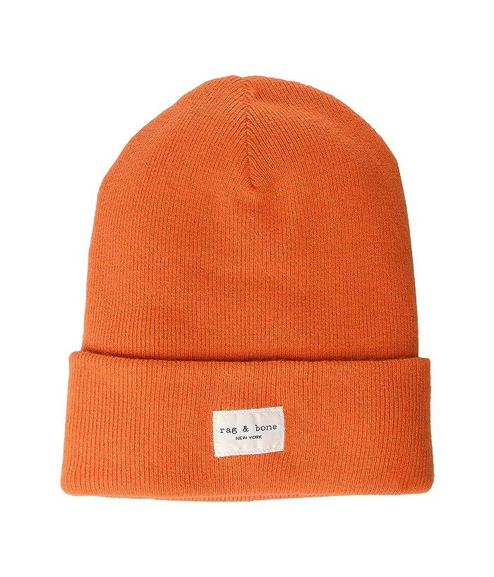rag and bone  Addison Beanie (Bright Orange) Caps