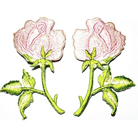 Patch Jeans Tattoo Patches Iron On Rose Patch Jacket Pink Flower Christmas Gifts for Crafters Pink Patches Ironon Flowers Jeans DIY