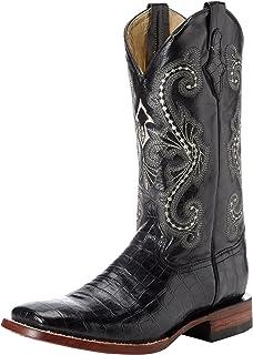 حذاء فيرريني الرجالي بتصميم جلد التمساح على شكل حرف S