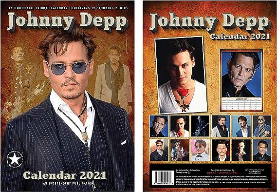Johnny Depp Calendario 2021 A3 con Johnny Depp Llavero