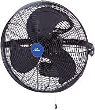 """iLIVING ILG8E18-15 Wall Mount Outdoor Waterproof Fan, 18"""", Black (Renewed)"""