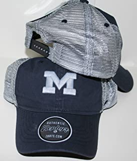 Zephyr University of Miami UM Hurricanes Canes Sebastian Top Volcanic Black//Grey Adult Mens//Womens//Youth Fitted Baseball Hat//Cap Size Medium Large
