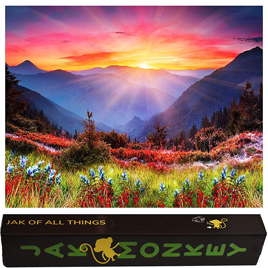 Diamond Painting Kit 5D DIY Craft Full Drill Square Sunburst Mountain for Adults Embroidery Paint by Numbers Diamond Cross Stitch (Sunburst Mountain) (16 inches x 20 inches)