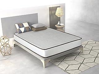 Imperial Confort Basic - Colchón Viscoelástico acolchado - Tejido Damasco Aloe Vera - Grosor 15 cm - 150x190