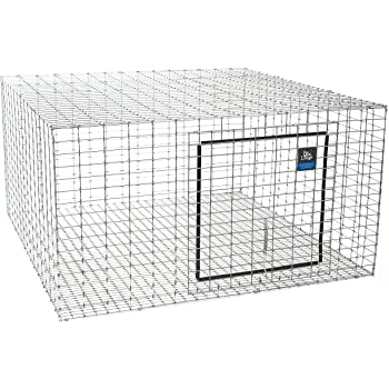 "LITTLE GIANT Wire Rabbit Hutch - Pet Lodge - Heavy Duty Galvanized Rabbit Home, Easy to Assemble (24"" x 24"") (Item No. AH2424)"