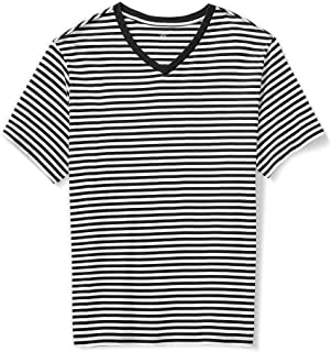 Amazon Essentials Men's Short-Sleeve Stripe V-Neck T-Shirt fit by DXL