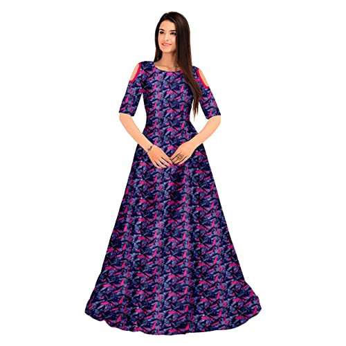 99baf39fe Active Feel Free Life Women's Benglori Satin Printed Semi-Stitched Gown  (G086-Bali
