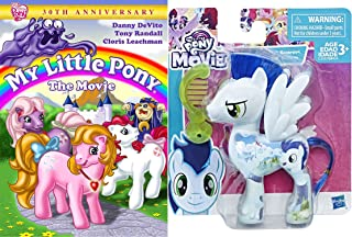 My Little Pony DVD & Character Set - My Little Pony: The Movie (30th Anniversary Edition) & My LIttle Pony All About Soarin Horse Figure (With Comb) 2-Piece Bundle