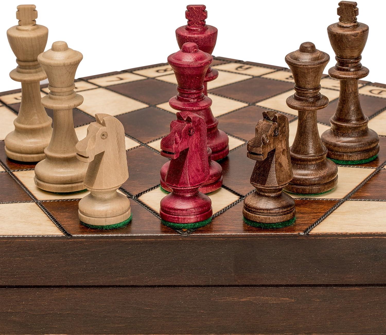 Con 100% de calidad y servicio de% 100. Wooden Three Jugarer Chess - 18.5 18.5 18.5 by Sunrise Handicrafts  envio rapido a ti